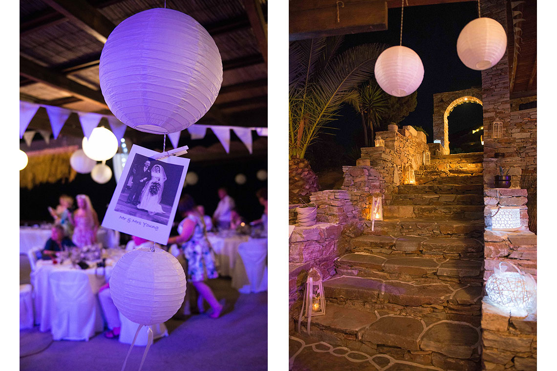 Wedding decoration in retro style