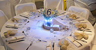 Table decoration in sand colors